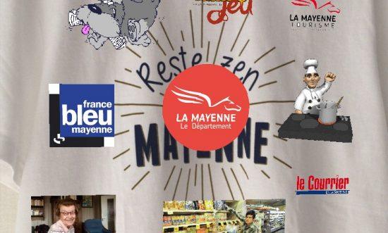 Communication numérique sur tshirt Mayenne en réalité augmentée Reste Zen t'es en Mayenne